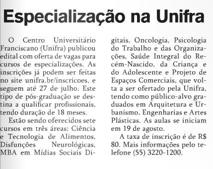 06.07.16 especialização unifra